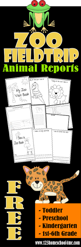 free zoo field trip worksheets