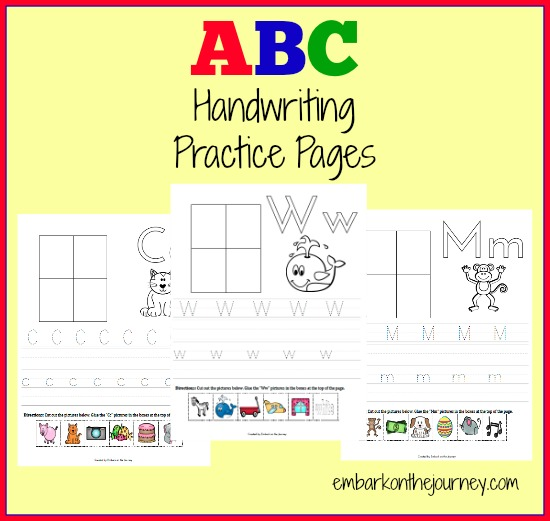 FREE ABC Handwriting Pages Free
