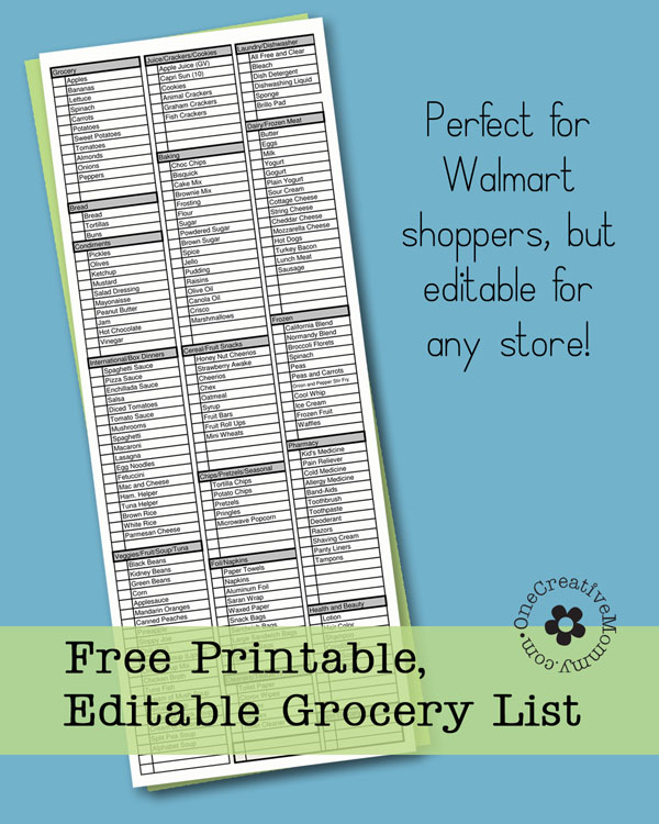 free printable grocery list and garden planting guide