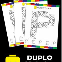 FREE Duplo Alphabet Mats