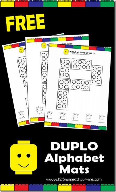 Free Duplo Alphabet Mats Free Homeschool Deals
