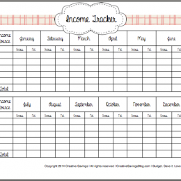 FREE How to Track Your Income Printables