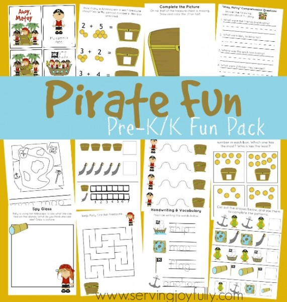 Free Printable Pirate Fun Pack Subscriber Freebie Free