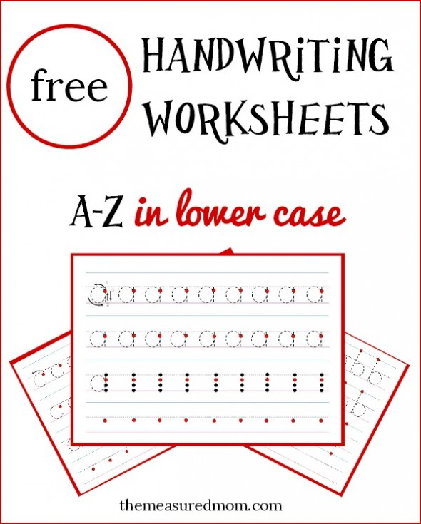 free lowercase handwriting worksheets free homeschool deals. Black Bedroom Furniture Sets. Home Design Ideas