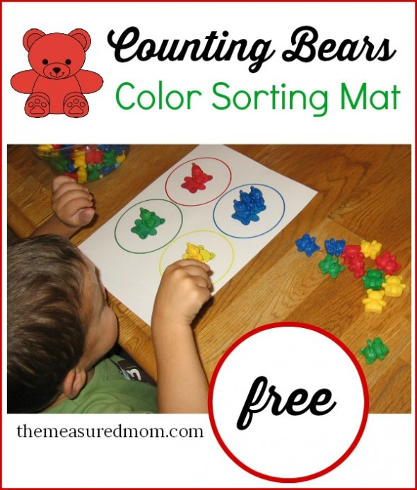 free toddler color sorting mat printable free homeschool deals. Black Bedroom Furniture Sets. Home Design Ideas