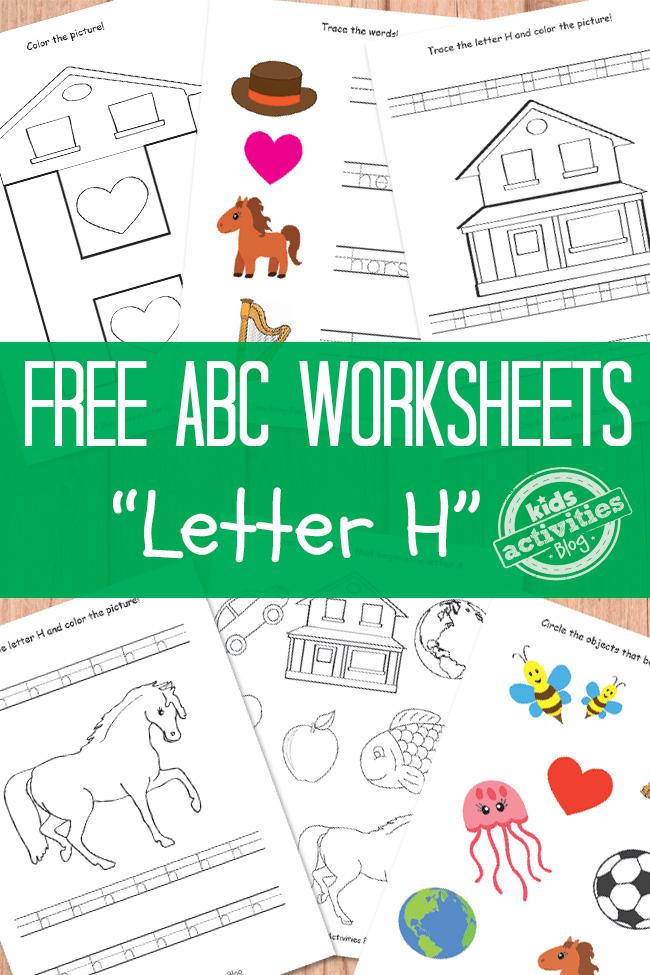 free letter h worksheets free homeschool deals. Black Bedroom Furniture Sets. Home Design Ideas