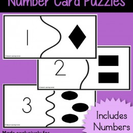 Free Number Card Puzzles – Numbers 1-12