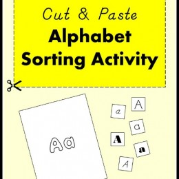 Free Cut & Paste Alphabet Sorting Activity (Instant Download!)
