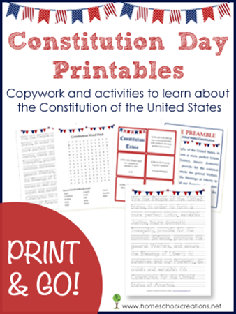 free constitution day printable pack free homeschool deals. Black Bedroom Furniture Sets. Home Design Ideas