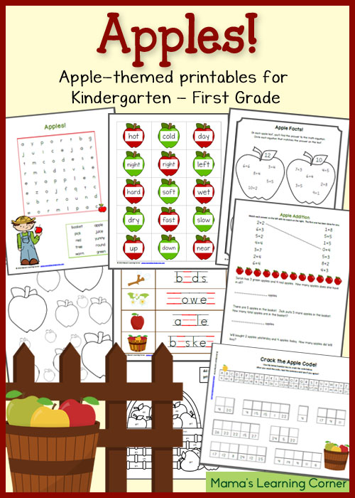 Language arts printables for kindergarten