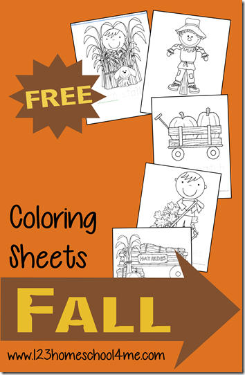 FREE Fall Coloring Pages Free