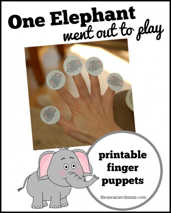 Free Printable Elephant Finger Puppets And Nursery Rhyme