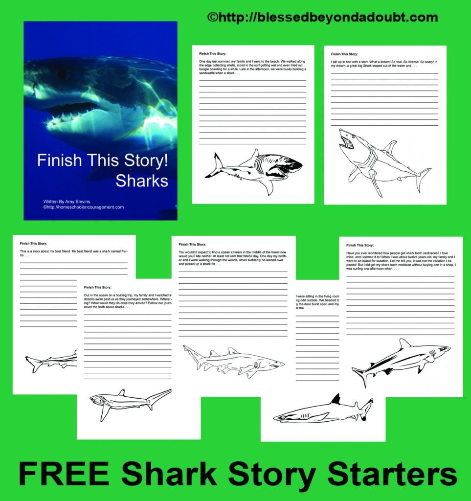 Free printable shark story starters free homeschool deals for Story starter com