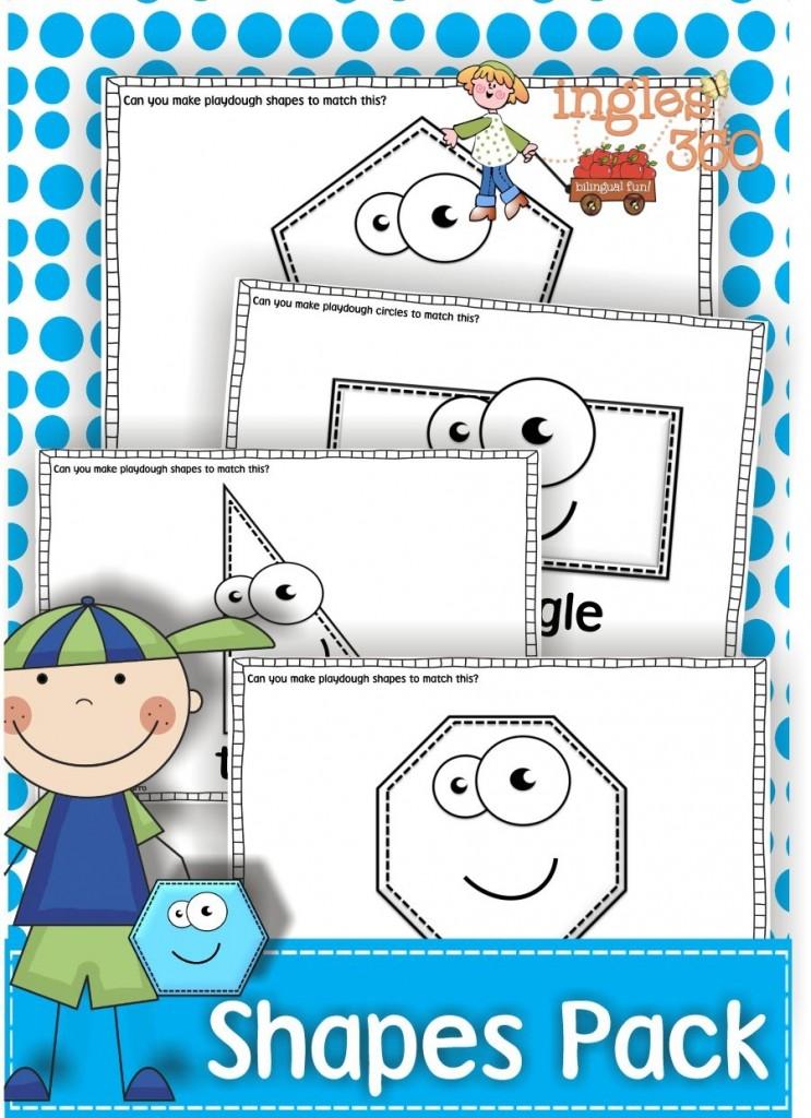 Free Printable Playdough Shapes Mats Free Homeschool Deals