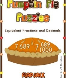 Free Pumpkin Pie Decimal Fraction Puzzles