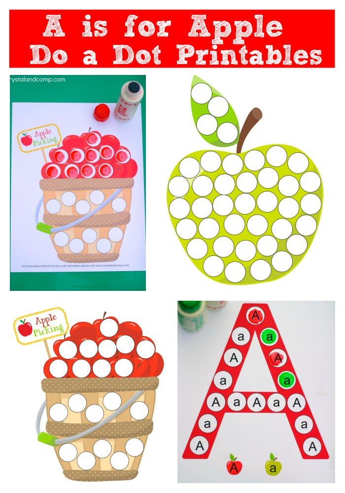 Free Preschool Dot A Dot A Is For Apple Printables Free