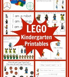FREE Lego Kindergarten Printable Learning Pack