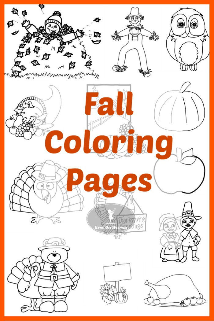 13 FREE Fall Coloring Pages Free