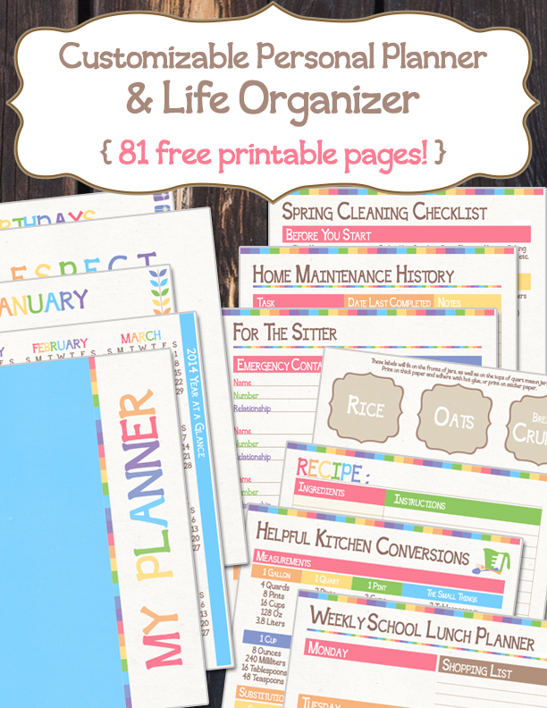 It is a graphic of Lively Printable Life Planner
