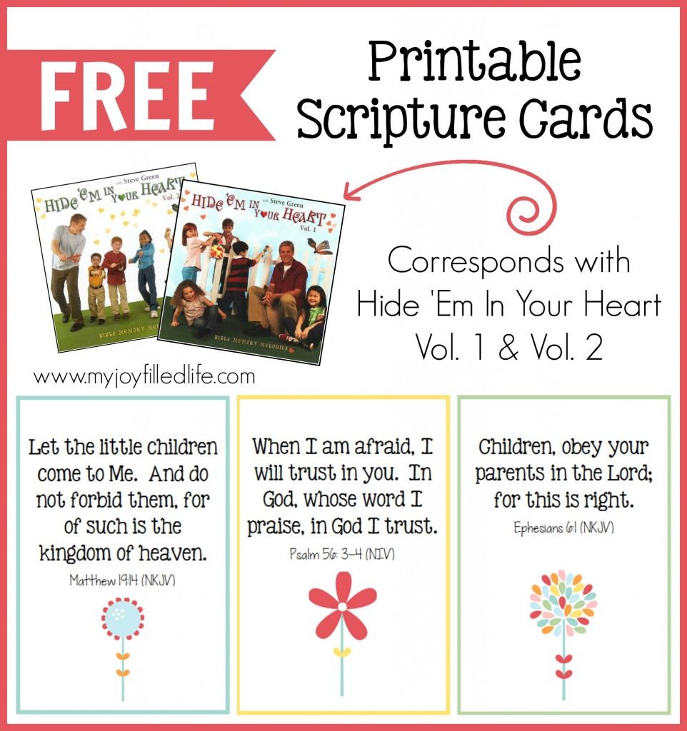 Gargantuan image with free printable bible verse cards