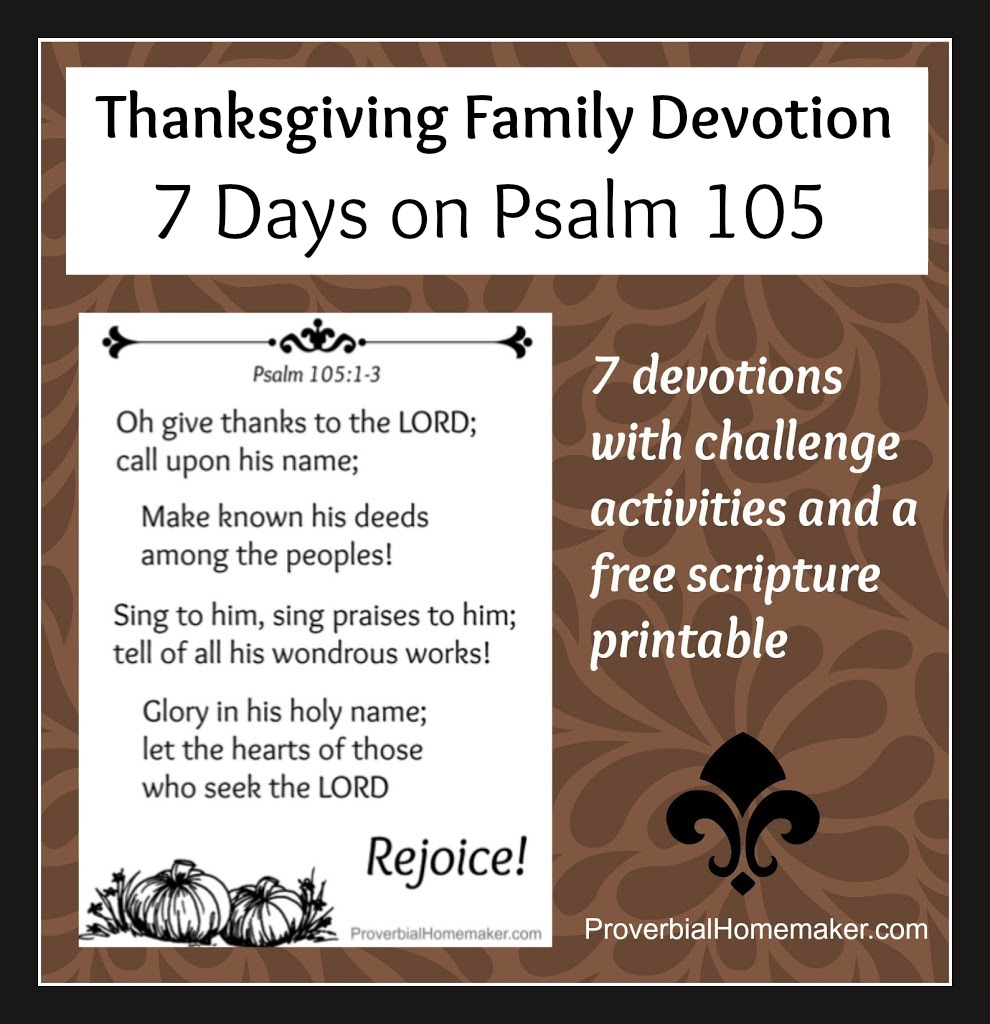 7 Day Thanksgiving Family Devotional Subscriber Freebie