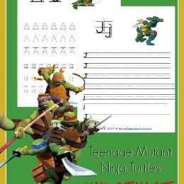 FREE Teenage Mutant Ninja Turtles Handwriting Printables