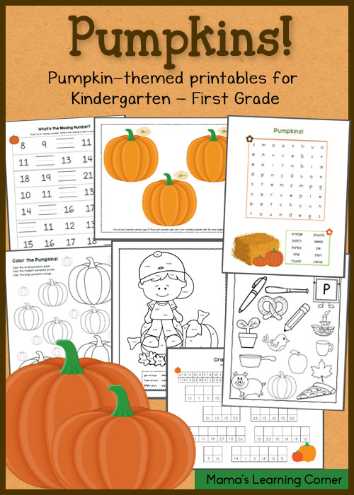 FREE Pumpkin Worksheets for K-1st Graders | Free Homeschool Deals ©
