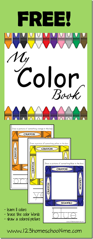 this free my color book is a great way for toddlers preschoolers and kindergarten children to practice their colors