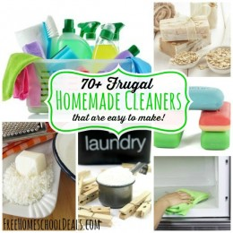 70 Frugal Homemade Cleaners that are Easy to Make