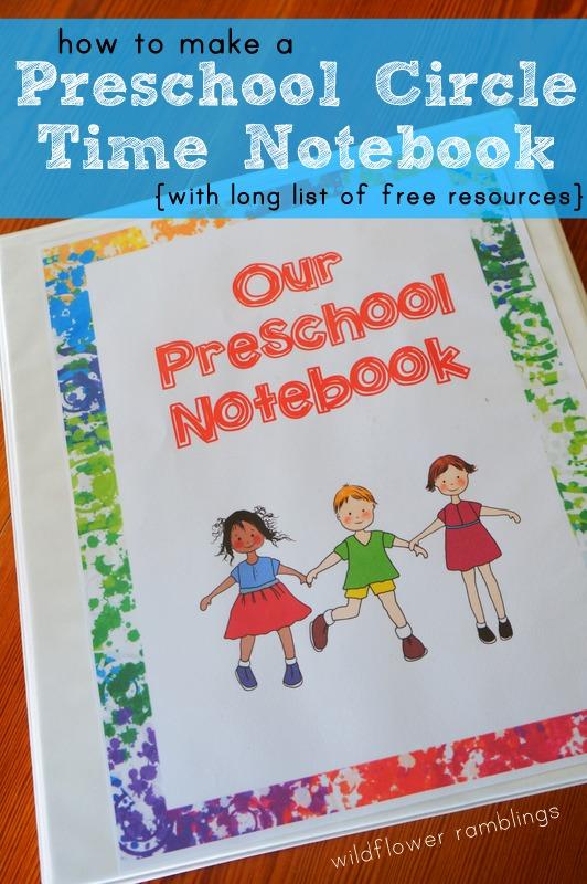 Free Preschool Circle Time Notebook Free Homeschool Deals
