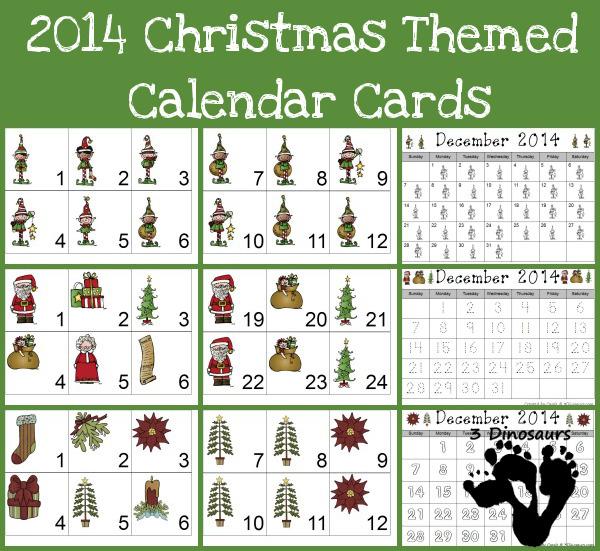free 2014 christmas calendar printables free homeschool deals. Black Bedroom Furniture Sets. Home Design Ideas