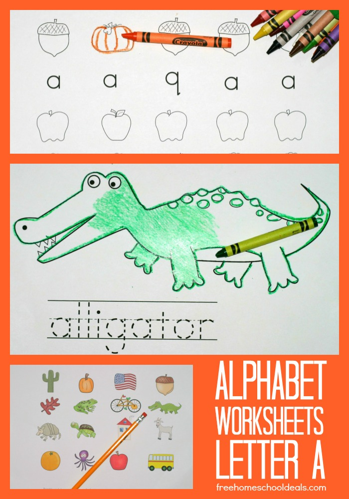 free instant download printable alphabet worksheets letter a free homeschool deals. Black Bedroom Furniture Sets. Home Design Ideas