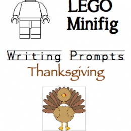 FREE Lego Minifig Thanksgiving Writing Prompts