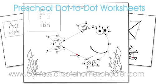 FREE Preschool Dot-a-Dot Worksheets