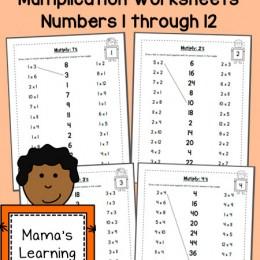 FREE Multiplication Worksheets 1-12