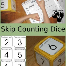 FREE Skip Counting Dice Game Printables