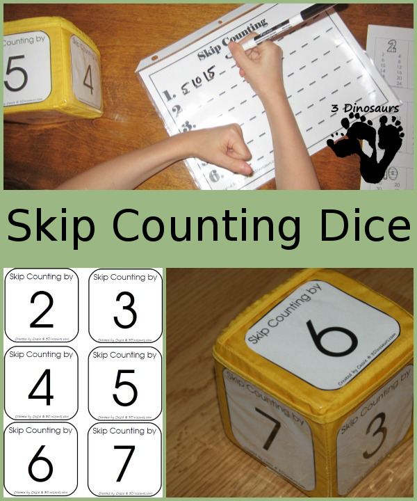 free skip counting dice game printables free homeschool deals. Black Bedroom Furniture Sets. Home Design Ideas