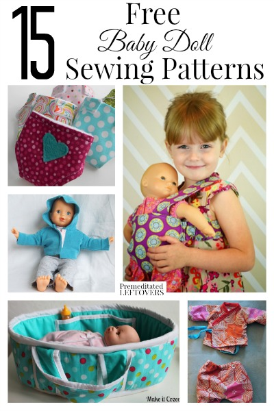 15 FREE Baby Doll Sewing Patterns | Free Homeschool Deals ©
