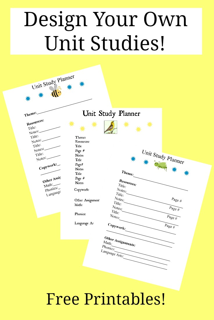 Free design your own unit studies free homeschool deals Design your own planner online