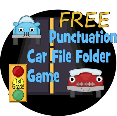 free punctuation car file folder game free homeschool