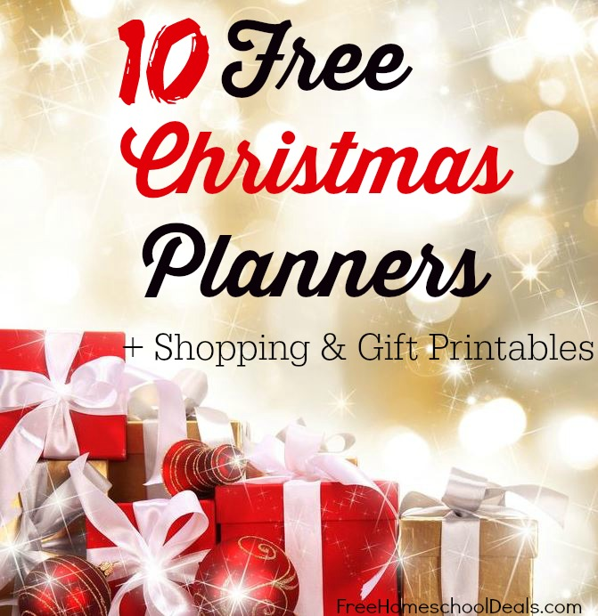 free christmas planners