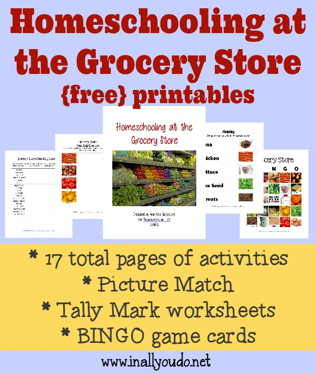 Free Homeschooling at the Grocery Store Printables | Free ...