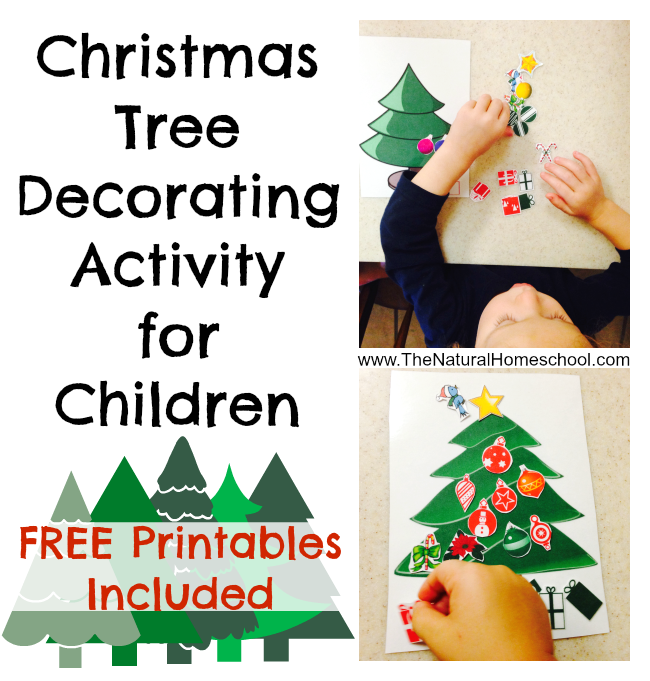 FREE Christmas Tree Decorating Activity For Kids