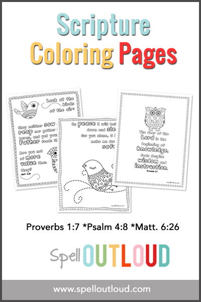 FREE Scripture Coloring Pages
