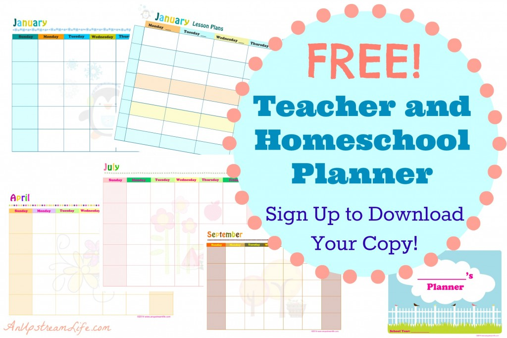 FREE Teacher and Homeschool Planner (subscriber freebie) | Free ...