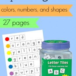 FREE Letter Tile Spelling Mats