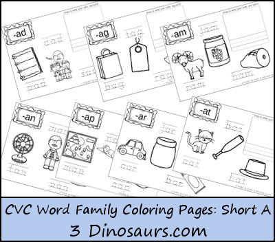 short a coloring page - free cvc coloring pages short vowel a free homeschool