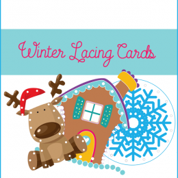 FREE Winter Lacing Cards