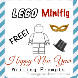 FREE LEGO Minifig New Year's Writing Prompts