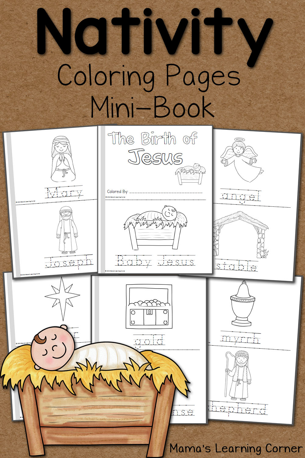 In This FREE 14 Page Mini Christmas Coloring Book From Mamas Learning Corner Youll Find